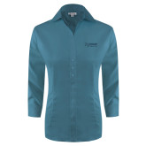 Ladies Red House Teal 3/4 Sleeve Shirt-Kidney Care
