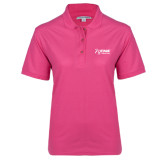 Ladies Easycare Tropical Pink Pique Polo-Kidney Care