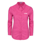 Ladies Tropical Pink Long Sleeve Twill Shirt-Kidney Care