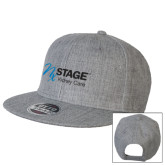 Heather Grey Wool Blend Flat Bill Snapback Hat-Kidney Care