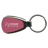Pink Teardrop Key Holder-Kidney Care Engraved