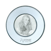 Silver Two Tone Small Round Photo Frame-Kidney Care Engraved