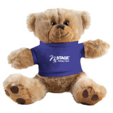 Plush Big Paw 8 1/2 inch Brown Bear w/Royal Shirt-Kidney Care