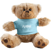 Plush Big Paw 8 1/2 inch Brown Bear w/Light Blue Shirt-Kidney Care