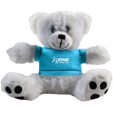 Plush Big Paw 8 1/2 inch White Bear w/Light Blue Shirt-Kidney Care
