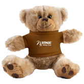 Plush Big Paw 8 1/2 inch Brown Bear w/Brown Shirt-Kidney Care