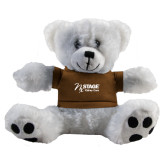 Plush Big Paw 8 1/2 inch White Bear w/Brown Shirt-Kidney Care