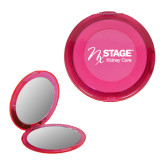 Pink Round Compact With 2x Magnifier Mirror-Kidney Care