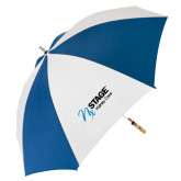 62 Inch Royal/White Umbrella-Kidney Care