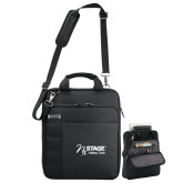 Kenneth Cole Black Vertical Checkpoint Friendly Messenger-Kidney Care