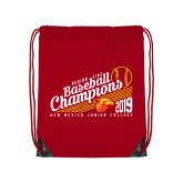 Red Drawstring Backpack-2019 Baseball Champions