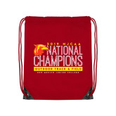 Red Drawstring Backpack-2019 NJCAA National Outdoor Track and Field Champions