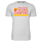 Next Level SoftStyle White T Shirt-2019 NJCAA National Outdoor Track and Field Champions