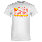 White T Shirt-2019 NJCAA National Outdoor Track and Field Champions