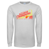 White Long Sleeve T Shirt-2019 Baseball Champions