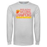 White Long Sleeve T Shirt-2019 NJCAA National Outdoor Track and Field Champions