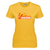 Ladies Gold T Shirt-Primary Logo