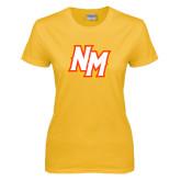 Ladies Gold T Shirt-NM Lettermark