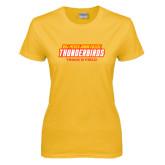 Ladies Gold T Shirt-Track & Field