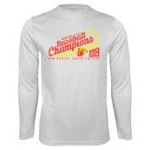 Performance White Longsleeve Shirt-2019 Baseball Champions