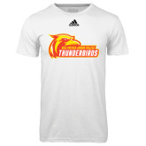 Adidas Climalite White Ultimate Performance Tee-Primary Logo