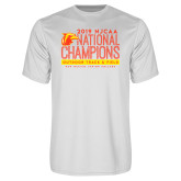 Performance White Tee-2019 NJCAA National Outdoor Track and Field Champions