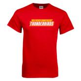 Red T Shirt-Thunderbirds Word Mark