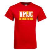 Red T Shirt-NMJC Thunderbirds Lettermark
