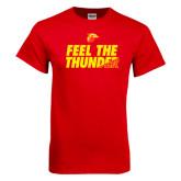 Red T Shirt-Feel The Thunder