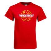 Red T Shirt-Thunderbirds Basketball Lined Ball
