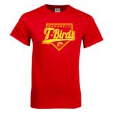 Red T Shirt-T-Birds Baseball Script and Plate