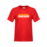 Youth Red T Shirt-Thunderbirds Word Mark
