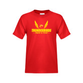 Youth Red T Shirt-Thunderbirds Track & Field Wings