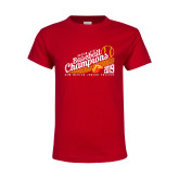 Youth Red T Shirt-2019 Baseball Champions