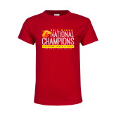 Youth Red T Shirt-2019 NJCAA National Outdoor Track and Field Champions