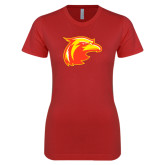 Next Level Ladies SoftStyle Junior Fitted Red Tee-Thunderbird Head
