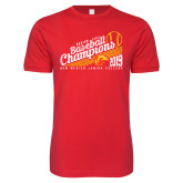 Next Level SoftStyle Red T Shirt-2019 Baseball Champions