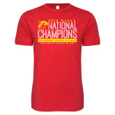 Next Level SoftStyle Red T Shirt-2019 NJCAA National Outdoor Track and Field Champions