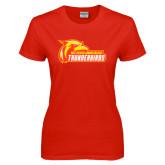 Ladies Red T Shirt-Primary Logo