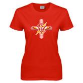 Ladies Red T Shirt-T-Bird