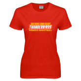 Ladies Red T Shirt-Womens Basketball