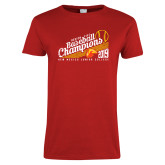 Ladies Red T Shirt-2019 Baseball Champions