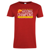 Ladies Red T Shirt-2019 NJCAA National Outdoor Track and Field Champions
