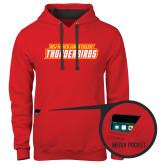 Contemporary Sofspun Red Hoodie-Thunderbirds Word Mark