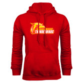 Red Fleece Hoodie-Primary Logo