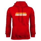 Red Fleece Hoodie-Thunderbirds Word Mark