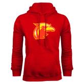 Red Fleece Hoodie-Thunderbird Head