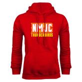 Red Fleece Hoodie-NMJC Thunderbirds Lettermark