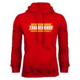 Red Fleece Hoodie-Mens Basketball