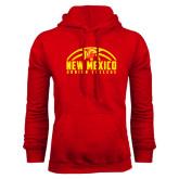 Red Fleece Hoodie-New Mexico Junior College Basketball Half Ball
